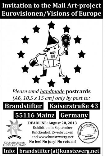 Einladung zur Mailart 2013 des Mainzer Kunstvereins Walpodenstraße